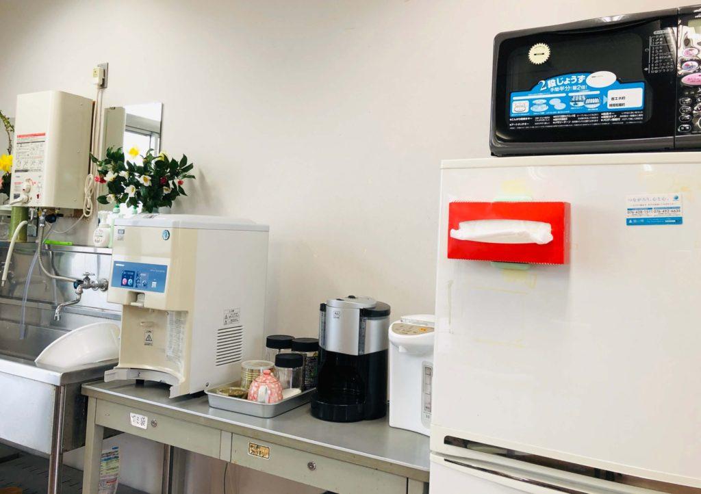 らいちょうのコーヒーサーバー、冷蔵庫